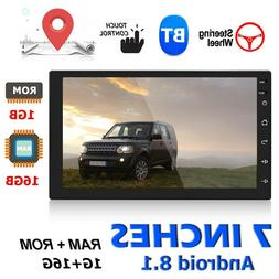 "7"" 2Din Android 8.1 GPS Navigation WiFi Quad Core Car Stereo"