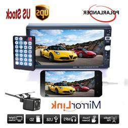 "7"" 2DIN Car Radio Stereo GPS FM MP5 Player TouchScreen USB B"