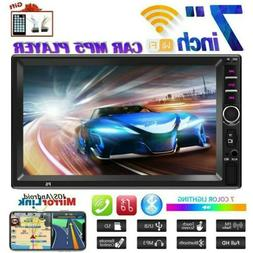 "7"" 2DIN Car Stereo Radio Bluetooth HD MP5 Player Touch Scree"