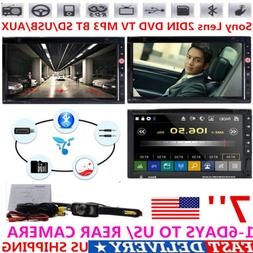 For Sony Lens 7'' 2Din Car Stereo Radio Mic DVD TV MP3 BT SD