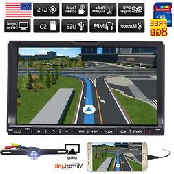 "7"" Touch Double 2DIN Car DVD CD Radio Stereo Player GPS Navi"