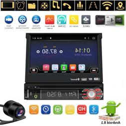 """7"""" Android 8.1 Flip Out Car DVD Stereo Radio 1DIN Unit Playe"""