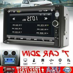 "7"" Car Bluetooth Radio Stereo MP5 Player 2DIN HD DVD VCD CD"