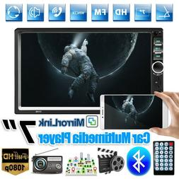 """7"""" Car Stereo Radio Bluetooth 2DIN HD MP5 Player Touch Scree"""