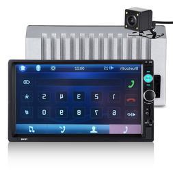 "7"" Car Stereo Radio MP5 Player Bluetooth In-Dash USB Mirror"