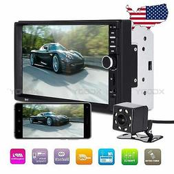 """7"""" Car Stereo Radio Player AUX/TF USB Touch Screen 2 DIN Blu"""