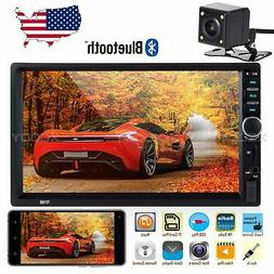 """7"""" Car Stereo Radio Player USB AUX TF Touch Screen 2 DIN Blu"""