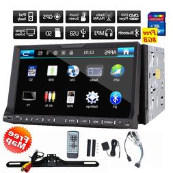 "7"" Double 2 Din Car Stereo GPS Navigation System with DVD Pl"
