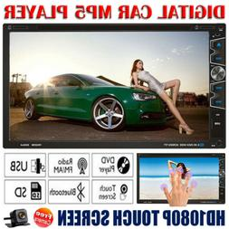 "7"" Double 2 Din Car Stereo HD CD DVD Player Radio Bluetooth"