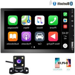 """7"""" Double 2 DIN Car Stereo Radio Player Bluetooth Touch Scre"""