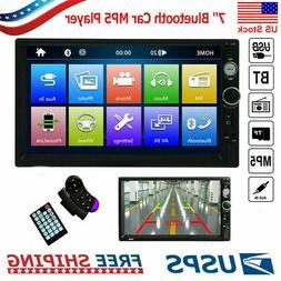 "7""  Double 2 Din Car Stereo Radio Bluetooth Audio Receiver U"