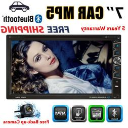 "7"" Double 2 Din HD Car Stereo Car Auto Radio DVD Player With"