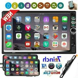 """7"""" Double 2 DIN Touch Screen Car Stereo Radio Bluetooth USB"""