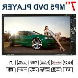 """7"""" Double 2DIN Car MP5 MP3 DVD Player Touch Screen Stereo Ra"""