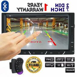 """7"""" Double 2DIN In dash Touch Screen Car stereo Radio MP5 DVD"""