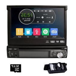 "7"" Flip Out  Car Radio 1DIN Stereo CD DVD MP3 GPS Navigation"