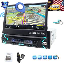 PYLE  Pyle 7 Flip-Out Single Din DVD Receiver with GPS and B