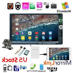 """7"""" HD Double 2 DIN Car Radio Stereo MP5 Player Touch Screen"""