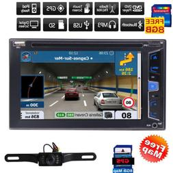 "7"" HD Touch Screen Double 2 DIN Car Stereo DVD CD Player Blu"