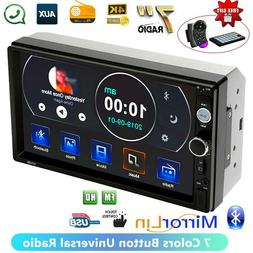 """7"""" inch Double 2 DIN Touch Screen Stereo Radio Car MP5 Playe"""