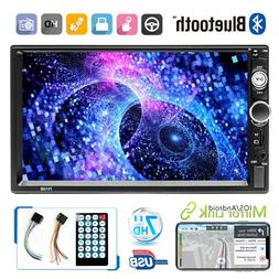 """7"""" Inch LED Car Stereo Radio HD Mp5 Player Touch Screen Blue"""