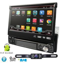"7"" Single 1DIN Android 9.0 Car DVD Player GPS Navigation Fli"