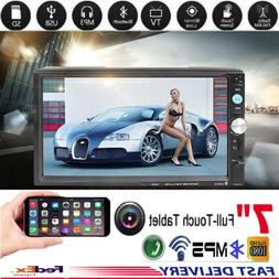 "7"" Touch Screen Bluetooth Hands-free Car Stereo MP5 Player F"