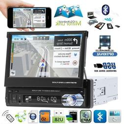 """7"""" Touch Screen Car MP5 Stereo Radio Single 1 DIN Flip out B"""