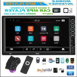 SWM 7in 2DIN Car Stereo MP5 Player BT FM Radio USB Mirror Li