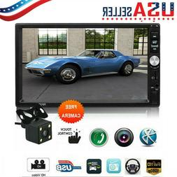 7Inch Double 2 DIN Car FM Stereo Radio MP5 Player TouchScree
