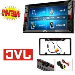 "JVC Double Din Bluetooth Car Stereo 6.2"" Touchscreen W/ Rear"