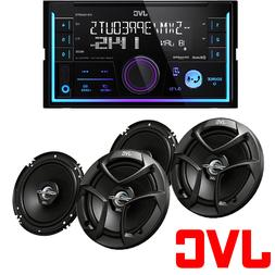 "JVC 2-Din In-Dash Car Stereo CD Player +300 Watts 6.5"" Speak"