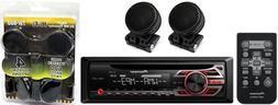 PIONEER DEH-S1000UB SINGLE-DIN CAR STEREO CD MP3 PLAYER & RE