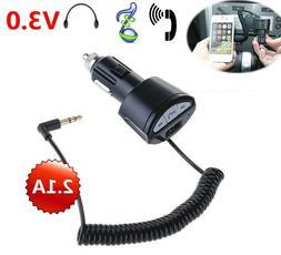 A2DP 3.5mm Car Handsfree Bluetooth AUX Stereo Audio Receiver