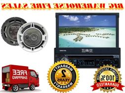 "Absolute 7"" INDASH CAR STEREO MOTORIZED DVD / CD / MP3/ USB"