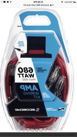 SCOSCHE AMP WIRING KIT680 WATT MAX 400 NEW