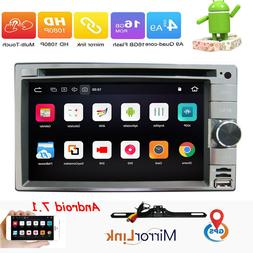 Android 7.1 2Din Car DVD Player Radio Stereo 6.2'' HD GPS Na