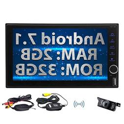 Android 7.1 2G 32G Car Radio, Double Din In Dash Bluetooth S