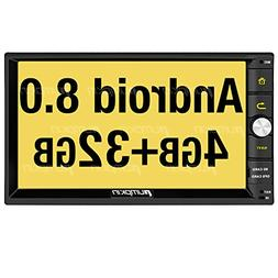 PUMPKIN Android 8.0 Car Stereo Double Din 4GB with GPS, WiFi