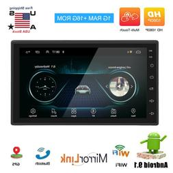 Android 8.1 Car Audio Stereo Radio 2 DIN 7inch GPS Navi MP5