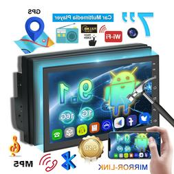 Android 9.1  Double Din Car Stereo  Radio  GPS Navigation Pl