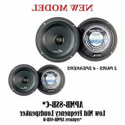 "AUDIOPIPE APMB-8SB-C 8"" TWO PAIR FULL RANGE CAR AUDIO DJ SE"