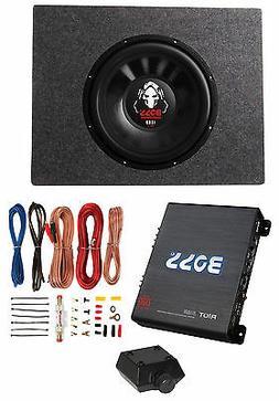 "Boss Audio 12"" 1600W 4 Ohm Subwoofer + Shallow Enclosure + A"