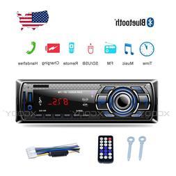 Auto Car Stereo Audio Radio Bluetooth FM AUX IN SD USB MP3 P