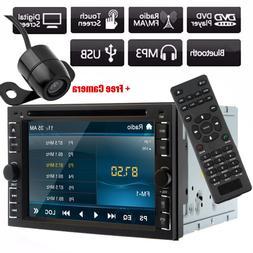 "Backup Camera+6.2"" HD Double 2 Din Car Stereo Radio DVD MP3"
