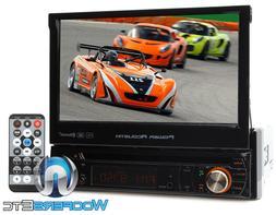 "BLUETOOTH 7"" TV TOUCH SCREEN DVD MP3 USB SD MP4 IPOD AUX CAR"