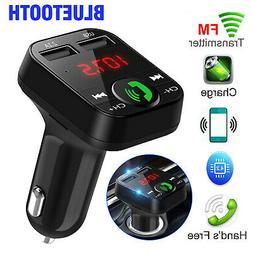 Wireless Car Bluetooth FM Transmitter Hands-free Radio AUX A