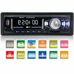 Bluetooth Car Stereo Audio In-Dash FM Aux Input Receiver SD