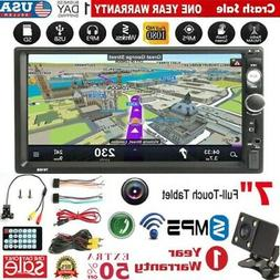 "Bluetooth Car Stereo Radio  2DIN 7"" HD MP3 DVD Player Touch"