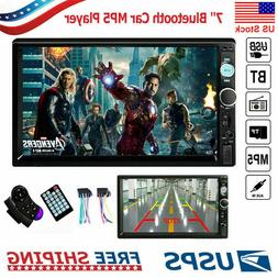 "Bluetooth Car Stereo Radio 2DIN 7"" HD MP5 FM Player Touch Sc"